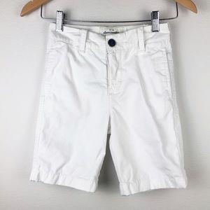 Abercrombie Flat Front Shorts White Size 8
